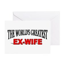 """""""The World's Greatest Ex-Wife"""" Greeting Cards (Pac"""