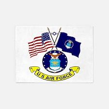USAF-USA Flags 5'x7'Area Rug