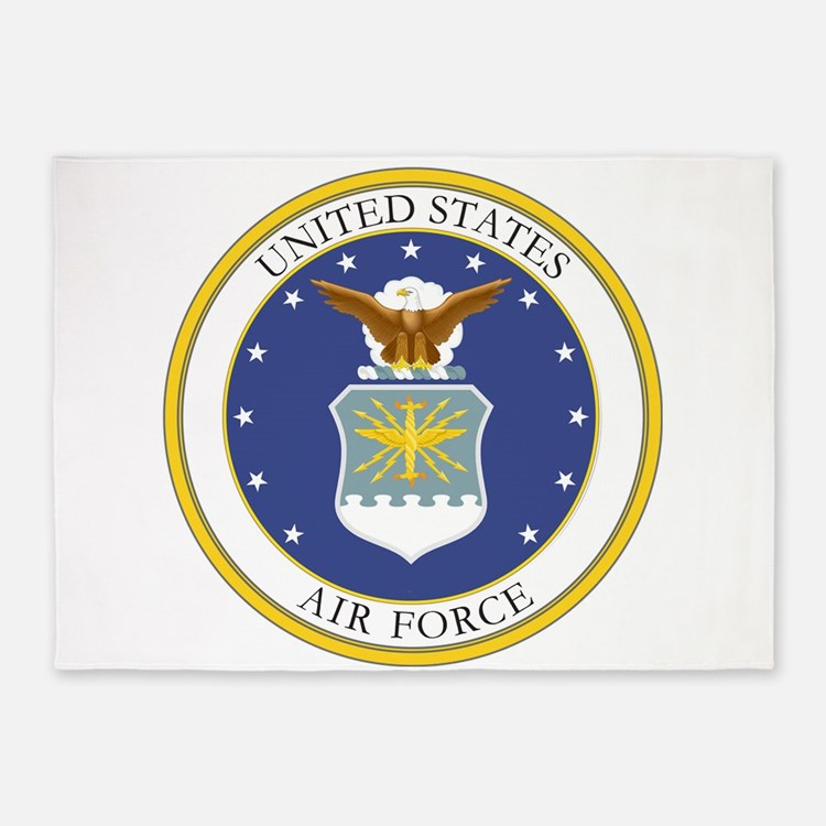 USAF Coat of Arms 5'x7'Area Rug