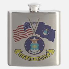 USAF-USA Flags Flask