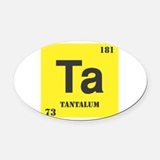 Tantalum.png Oval Car Magnet