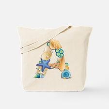 BEACH THEME INITIAL A Tote Bag