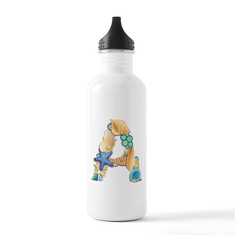 BEACH THEME INITIAL A Water Bottle