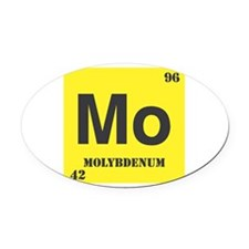 Molybdenum.png Oval Car Magnet