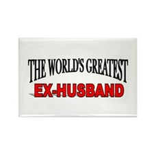 """The World's Greatest Ex-Husband"" Rectangle Magnet"