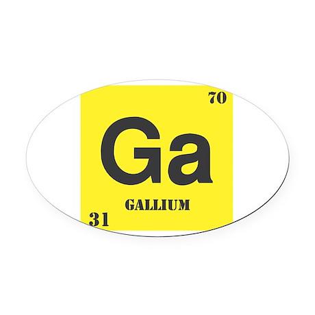 Gallium.png Oval Car Magnet