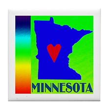 Minnesota Pride Tile Coaster