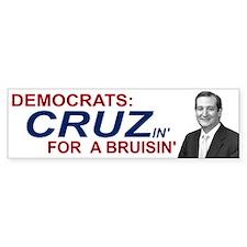 Democrats Cruzin' for Bruisin' Car Sticker