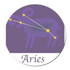 Aries-20.png Round Car Magnet