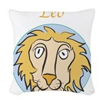 Leo-01.png Woven Throw Pillow