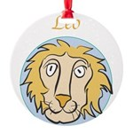 Leo-01.png Round Ornament