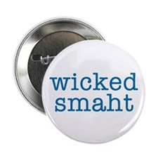 Wicked Smaht Button (blue)