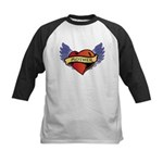 Mother Heart Tattoo Kids Baseball Jersey