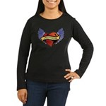 Mother Heart Tattoo Women's Long Sleeve Dark T-Shi