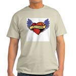 Mother Heart Tattoo Ash Grey T-Shirt