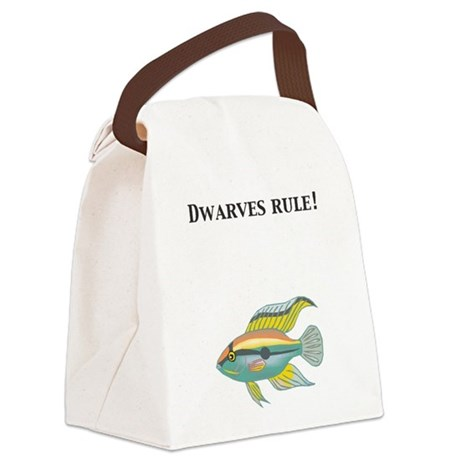 Cichlid Dwarves rule! Canvas Lunch Bag