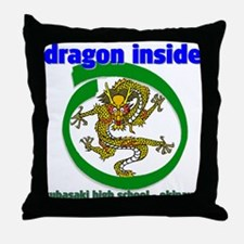 Dragon Inside Throw Pillow