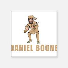 """Daniel Boone Square Sticker 3"""" x 3"""""""