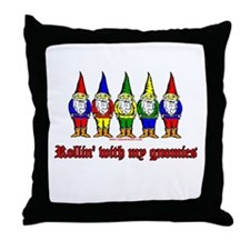 ROllin With My Gnomies Throw Pillow