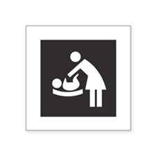 "Baby-Changing-Station.png Square Sticker 3"" x 3"""