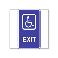 """Exit.png Square Sticker 3"""" x 3"""""""