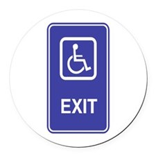 Exit.png Round Car Magnet