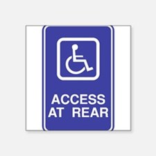 "Access-at-Rear.png Square Sticker 3"" x 3"""