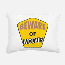 Beware-of-Wolves.png Rectangular Canvas Pillow