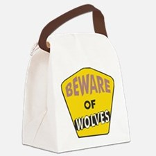 Beware-of-Wolves.png Canvas Lunch Bag