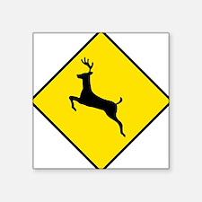 "Deer Sign Square Sticker 3"" x 3"""