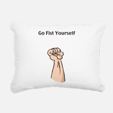 fist_yourself.png Rectangular Canvas Pillow