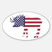 US Flag Moose Decal