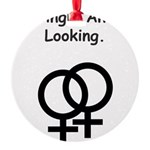 homo_female_single_looking.png Round Ornament
