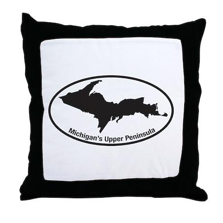 Upper Peninsula Oval Throw Pillow