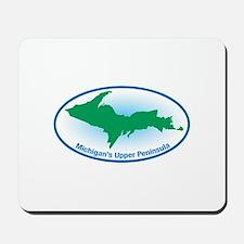 Upper Peninsula Oval Mousepad
