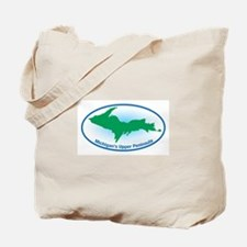 Upper Peninsula Oval Tote Bag