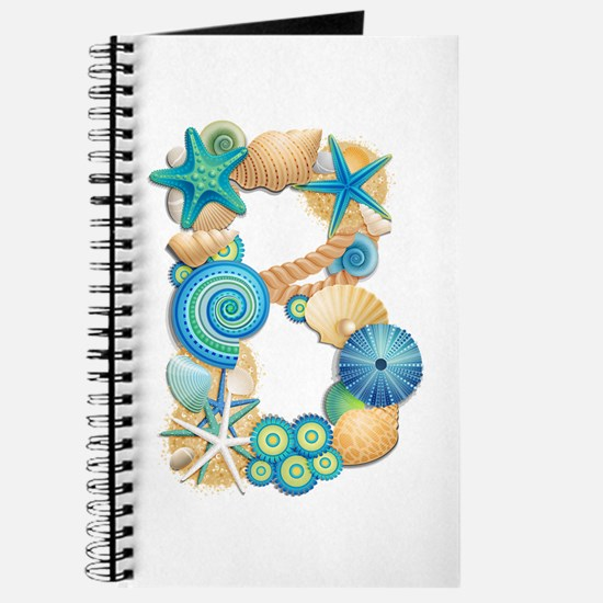 BEACH THEME INITIAL B Journal