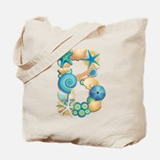 BEACH THEME INITIAL B Tote Bag