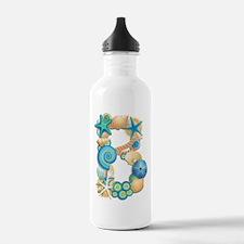 BEACH THEME INITIAL B Water Bottle