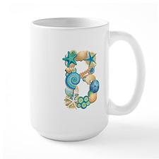 BEACH THEME INITIAL B Mug