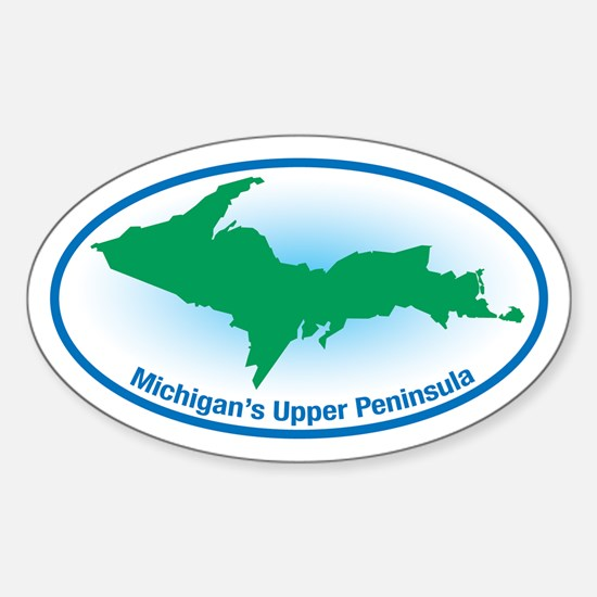 Upper Peninsula Oval Oval Decal