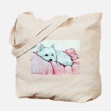 Napping Westie Tote Bag
