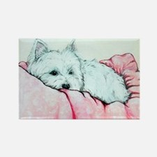 Napping Westie Rectangle Magnet (100 pack)