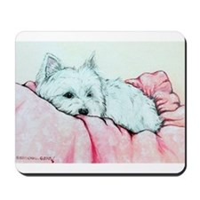 Napping Westie Mousepad