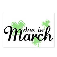 Cute Due in march Postcards (Package of 8)