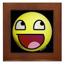 Epic Smiley Framed Tile
