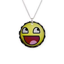 Epic Smiley Circle Charm Necklace