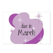 Unique Due in march Postcards (Package of 8)