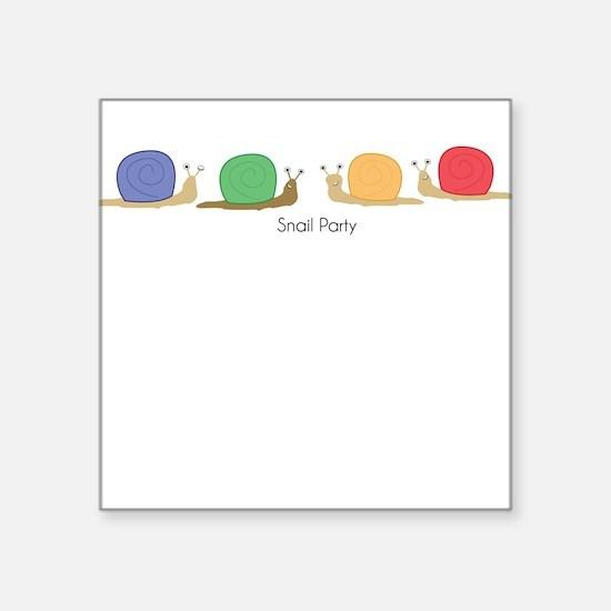snail party Sticker
