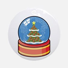 Snowglobe Ornament (Round)